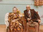 Mr. and Mrs. Max Tulloch, 50th Wedding Anniversary, Iron Bridge, 1975