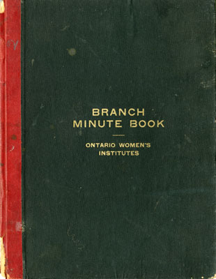 Iron Bridge Women's Institute Branch Minute Book, 1919-1921