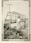 Stella Tulloch (Alhusen) Near Original Iron Bridge, 1931