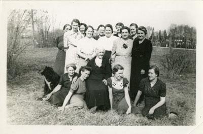 Women's Church Group, Iron Bridge, Circa 1935
