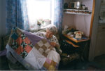 Mrs. Ella Allen With Quilt, Circa 1990