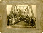 Opening of Thompson Bridge, Dean Lake, 1908