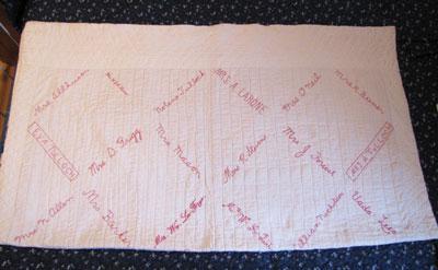 Women's Institute Fund-raising Quilt, Circa 1930