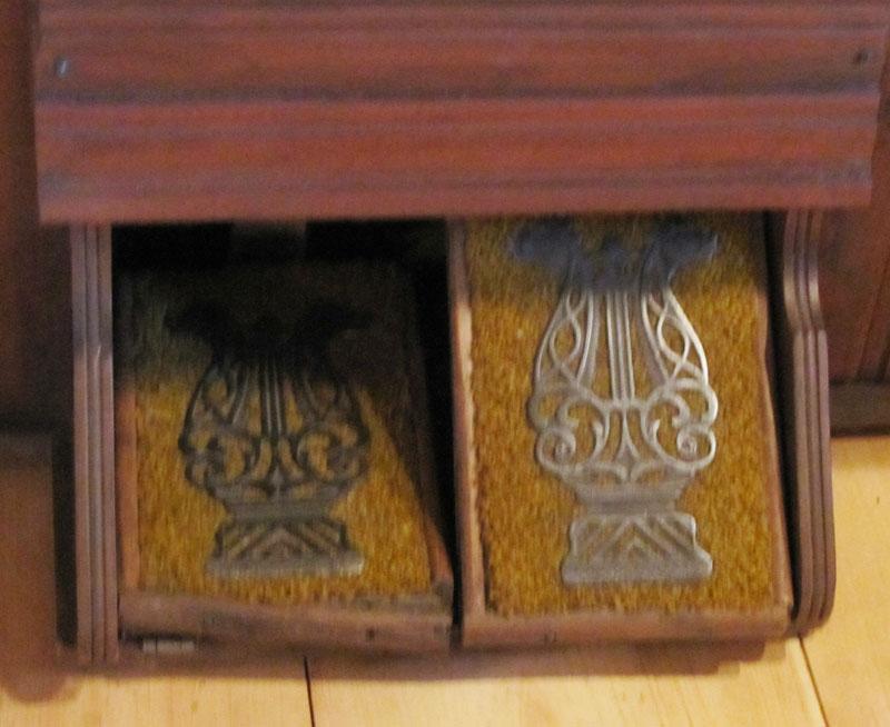 Wooden Pump Organ and Stool, Circa 1925