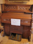 Wooden Pump Organ and Stool, Circa 1925