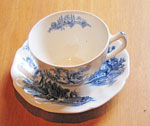 Tea Cup (Blue and White Pattern - Old Mill by Johnson Brothers), Circa 1955