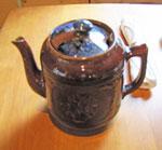 Brown China Tea Pot, Circa 1950