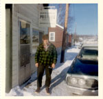 Harvey Brown Outside of North Shore Propane, 1965