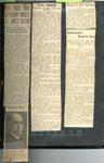 Rev. and Mrs. Holmes Depart Iron Bridge Church, Newspaper Clipping, Circa 1934