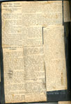 Presentations Made to Rev. and Mrs. Stymiest, Iron Bridge Church, Newspaper Clipping, Circa 1939