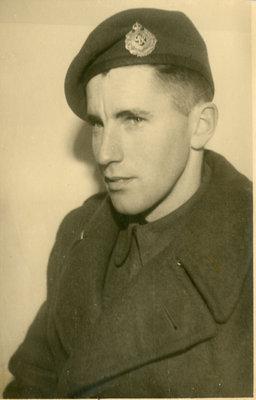 Huitson Wallace Alexander Miskimin in Uniform, Circa 1942