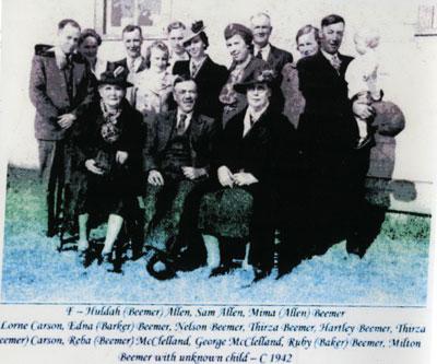 Mary Jemima Allen and United Church Group, Iron Bridge Circa 1942