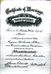 Marriage Certificate, Cyrus Allen and Emma Gardiner,Sault Ste. Marie, 1914