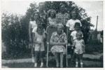 Grandma Allen and Grandchildren, Iron Bridge, 1951