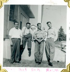 Herb, Lloyd, Dick, and Ralph Allen, Iron Bridge, 1954