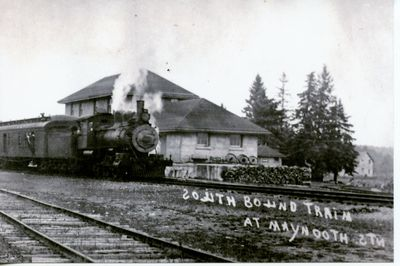 South bound train at Maynooth Ontario Station.