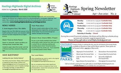 HHPL Spring Newsletter Vol 2 Apr-Jun 2021