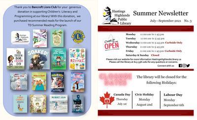 HHPL Summer Newsletter July-September 2021