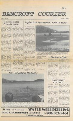 Bancroft Courier Vol 1 No 15 1995 08 30