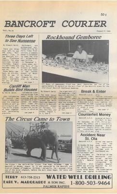 Bancroft Courier Vol 1 No 16 1995 08 17