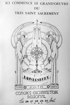 Emblème du Congrès Eucharistique régional. - Emblema of the Regional Eucharistic Congress.