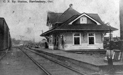 "Gare de la ""Canadian Northern"" - ""Canadian Northern"" railway station."