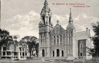 Ancienne église St-Alphonse de Liguori. - Old St-Alphonse de Liguori Church.