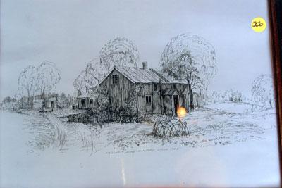 Pen and Ink Sketch of Original Kingshott Homestead