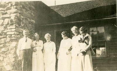Group portrait taken at Fairyport, Fairy Lake, Huntsville, Ontario.