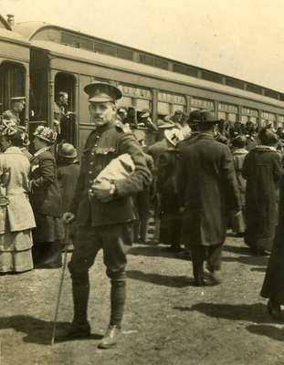 Off to war 1914, a friend of Clare Monkhouse.