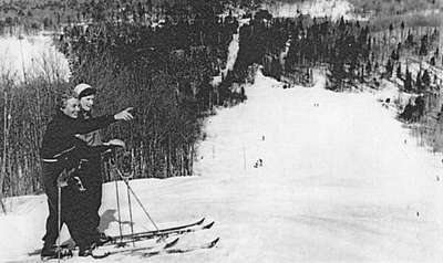 The Top of the World Ski Hill, Limberlost Lodge, Huntsville, Ontario.