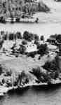 Grandview Inn as seen from the air, Fairy Lake, Huntsville, Ontario.