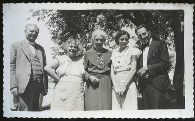 Reverand and Mrs. Pringle, Aunt Beana (Dr. Oryuntakas – check spelling, daughter) Jean and Clayton John