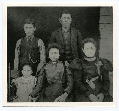 John S. Hill, Nick Hill, Rena, Clara Blaker,and Maggie Maracle