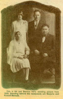 Wedding Picture of William Isaac Hill and Bernice