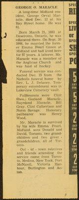 George Maracle's Obituary