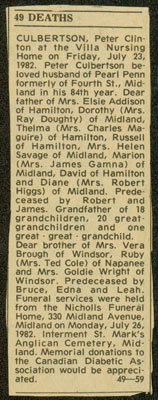 Peter Culbertson's Obituary