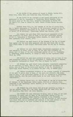 Joseph Brant Land Agreement