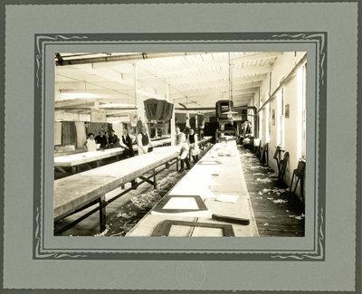Cutting room, Lang Shirt Factory, Kitchener, Ontario