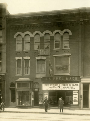 A. Sippel and Son shoe store, 31 King Street, East, Kitchener, Ontario