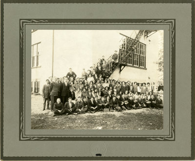 Elmira High School students and teachers, November 1924