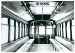 Interior of Kitchener-Waterloo street car no. 22