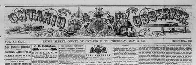 Ontario Observer (1857-1873)