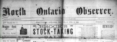 North Ontario Observer (1873-1919)