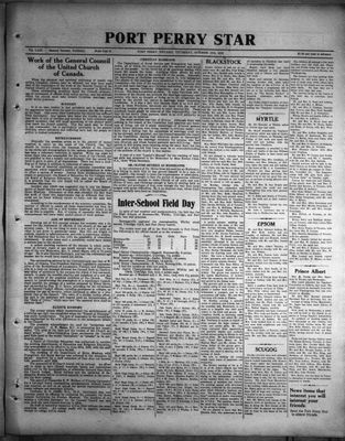 Port Perry Star, 13 Oct 1932