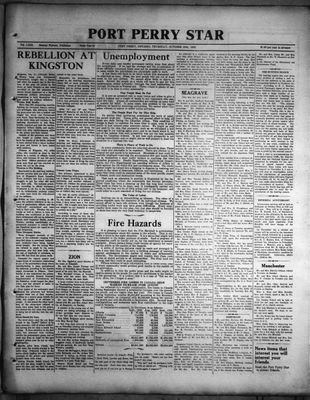 Port Perry Star, 20 Oct 1932