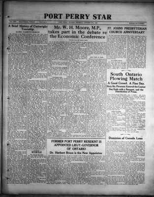 Port Perry Star, 27 Oct 1932