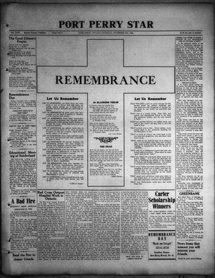 Port Perry Star, 10 Nov 1932