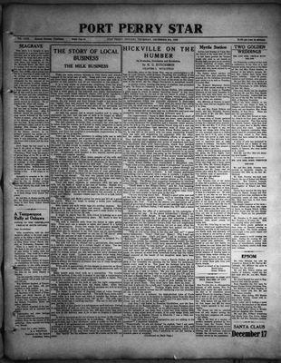 Port Perry Star, 8 Dec 1932