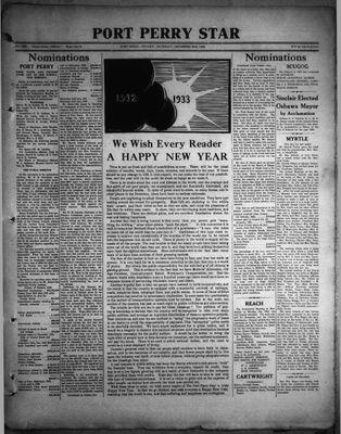 Port Perry Star, 29 Dec 1932